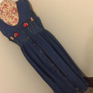 That's the way innovative large Jean jumper dress